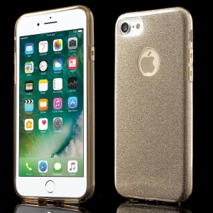 XINCUCO Glittery Hybrid PC + TPU Shell Case for iPhone 8/7 - Gold