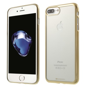 MERCURY GOOSPERY Ring 2 Case Plating Edge TPU Clear Skin for iPhone 8 Plus / 7 Plus - Gold
