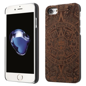 Carved Pattern Real Wood Skin Hard Case for iPhone 8 4.7 inch / 7 4.7 inch - Tribal Totem