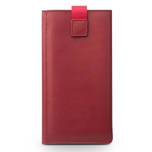 QIALINO Genuine Leather Wallet Pouch Phone Cover for iPhone 7 - Red