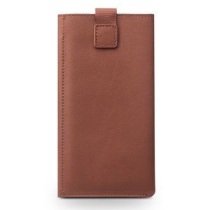 QIALINO Wallet Pouch Genuine Leather Phone Case for iPhone 7 - Brown