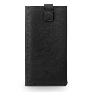 QIALINO Genuine Leather Wallet Pouch Phone Case for iPhone 7 Plus - Black