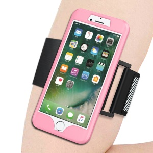 Silicone Cover Sweat-proof Sports Armband for iPhone 8 Plus/7 Plus - Pink