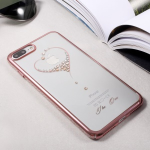 KINGXBAR Diamond PC Shell for iPhone 8 Plus / 7 Plus (Rose Gold Edge) - The Wish of the Stars