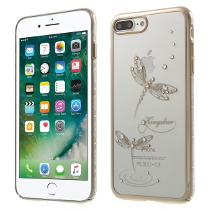 KINGXBAR Star Series Swarovski Diamond PC Back Case for iPhone 7 Plus 5.5 - Jade Dragonflies
