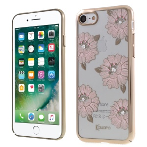 KAVARO Swarovski Diamond Plating Hard PC Cover pour iPhone 8/7 4.7 - rose fleurir