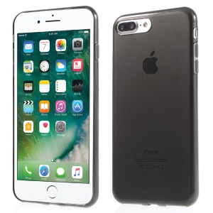 Clear Anti-watermark TPU Gel Protective Cover for iPhone 7 Plus - Grey