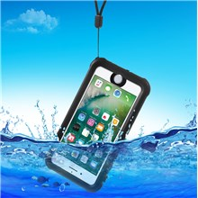 REDPEPPER PC + TPU Waterproof Case for iPhone 7 IP68 Underwater Sealed Dust-proof Cover - Black