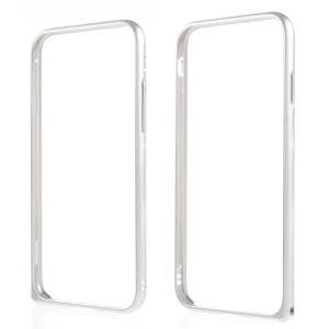 Plating Aluminum Alloy Hippocampal Buckle Bumper for iPhone 7 4.7 Inch - Silver