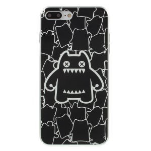 MEKICULTURE Zombies Cat Embossed Hard Cover for iPhone 7 Plus 5.5 - Fashion Cat / Black