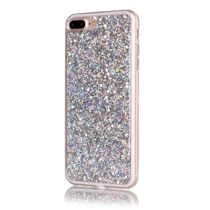 Color Changing Glittering Sequins TPU Soft Case for iPhone 8 Plus / 7 Plus 5.5 inch - Silver