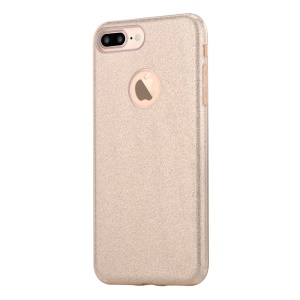 VOUNI Shine Series Glittering PC TPU Back Cover for iPhone 8 Plus / 7 Plus 5.5 - Gold