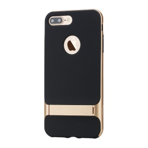 ROCK Royce Series for iPhone 8 Plus / 7 Plus 5.5 inch Kickstand PC + TPU Hybrid Case - Gold