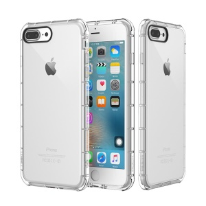 ROCK Fence Series Drop-proof TPU Back Cover for iPhone 8 Plus / 7 Plus 5.5 inch - Transparent