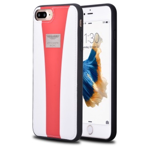 ASTON MARTIN RACING Genuine Leather Coated PC TPU Hybrid Case for iPhone 8 Plus / 7 Plus 5.5 inch - White