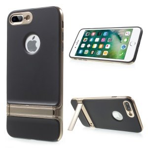 X-FITTED for iPhone 7 Plus Armor Plating Hybrid TPU + PC Back Shell with kickstand - Gold
