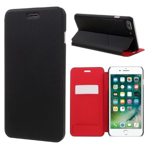 X-FITTED for iPhone 7 Plus Business Style Leather Card Holder Stand Cover