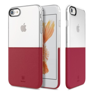 BASEUS Half to Half PC + TPU Hybrid Cover for iPhone 8/7 4.7 - Wine Red