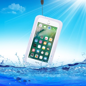 IP68 Underwater Waterproof Cover for iPhone 7 Plus / 6s Plus / 6 Plus Dirt/Dust/Snow Proof - White