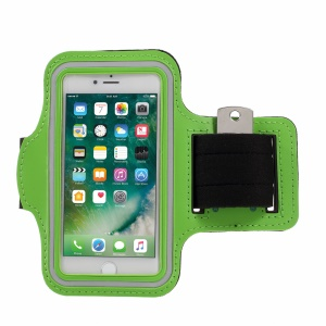 Adjustable Running Jogging Gym Sports Armband for iPhone 8/7 4.7 inch - Green