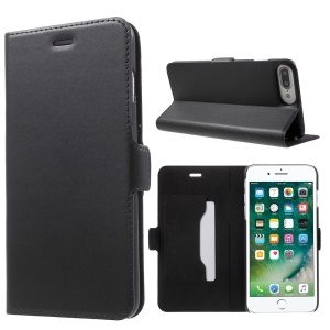 DOORMOON Genuine Leather Case for iPhone 7 Plus with Card Slot - Black