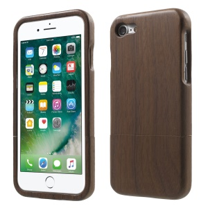 For iPhone 8 / 7 Natural Wood Hard Protector Cover - Coffee
