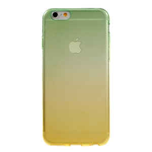 Gradient Color TPU Phone Case for iPhone 6s 6 - Green / Yellow