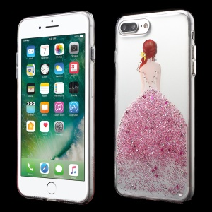 JOYROOM Olly Series Girl in Bling Dress Pattern TPU Cover for iPhone 7 Plus 5.5 - Pink