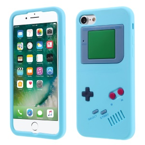 Game Boy Silicone Soft Skin Cover for iPhone 7 4.7 inch - Baby Blue