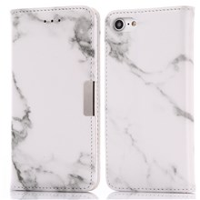Marble Pattern Leather Wallet Flip Stand Cover for iPhone 8 / 7 4.7 inch - Grey