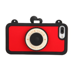 8THDAYS for iPhone 7 Plus Click Click Bluetooth Self Timer Silicone Cover - Black