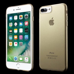 FSHANG Flash Powder TPU Mobile Cover for iPhone 7 Plus - Transparent Gold