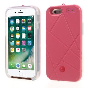 XIWXI Selfie Illuminated Rechargeable TPU PC Case Power Bank for iPhone 6S Plus/6 Plus 5.5 - Red