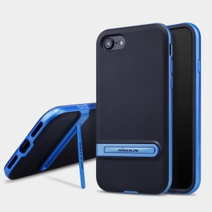 NILLKIN Youth Case Convex Point Pattern PC + TPU Back Cover for iPhone SE 2 (2020)/8/7 - Blue