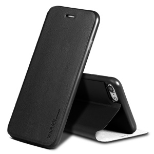 X-LEVEL Slim Folio Leather Stand Case for iPhone 8 / 7 4.7 inch - Black