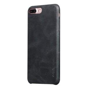 X-LEVEL Vintage Series Leather Coated Hard Case for iPhone 8 Plus / 7 Plus - Black