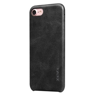 X-LEVEL Vintage Series Leather Coated Hard PC Case for iPhone 8 / 7 - Black