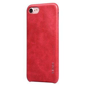 X-LEVEL Vintage Series Leather Coated Hard Plastic Case for iPhone 7 - Red