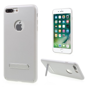 Rubberized PC Kickstand Back Case for iPhone 7 Plus 5.5 Inch - Silver