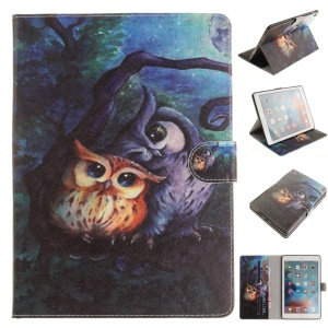 Patterned Wallet Stand Smart Leather Case for iPad Pro 9.7 inch - Cute Owls