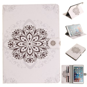 Patterned Wallet Stand Smart Leather Cover for iPad Pro 9.7 inch - Retro Flower