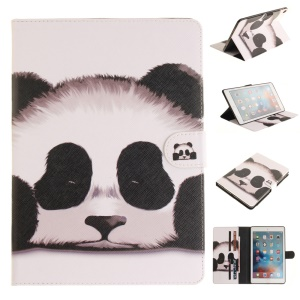 Patterned Wallet Smart Leather Shell Case for iPad Pro 9.7 inch - Panda