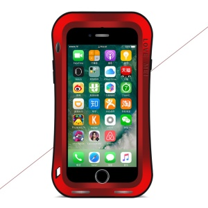 LOVE MEI Small Waist Powerful Cover for iPhone 8/7 4.7 Drop-proof Shockproof Dust-proof  - Red