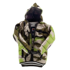 Universal 3D Mini Camouflage Down Jacket Pouch for iPhone 7 Plus, Phones Under 6 inch - Green
