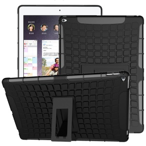 Tire Pattern Kickstand PC TPU Hybrid Case for iPad Pro 12.9 inch - Black