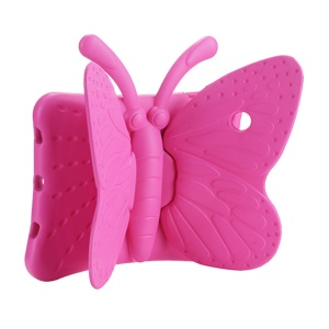 3D Butterfly Shockproof EVA Kids Friendly Case Stand for iPad Pro 9.7 / Air 2 / Air - Rose