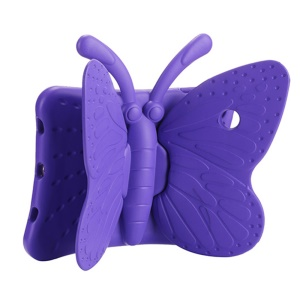 3D Butterfly Kids Shockproof EVA Case with Kickstand for iPad Pro 9.7 / Air 2 / Air - Purple
