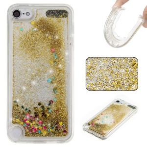 Fluid Glitter Sequins Quicksand TPU Phone Shell for iPod Touch 6/5 - Gold