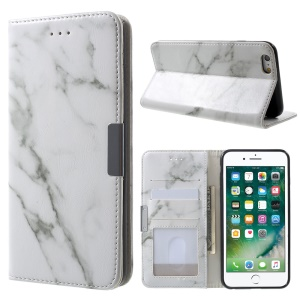 Marble Texture Wallet Leather Cover for iPhone 6s Plus/6 Plus - Grey