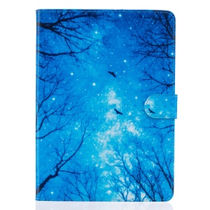 Patterned Magnetic Leather Stand Case for iPad Pro 9.7 - Trees at Winter Night